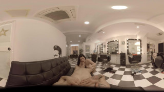 Blowjob in 360! Special Hairdresser