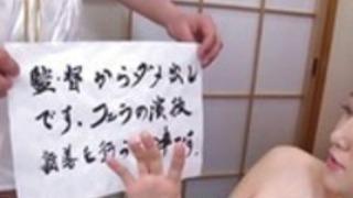 字幕付き日本のAVスターモナ武井フェラチオラインナップ
