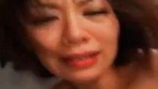 翔田千里二穴同時挿入の過激乱交でガ男根中出しセクロスされて涙ぐむムチムチ美熟女