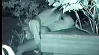 ストリート夜の公園盗撮セックス