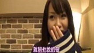 かわいい日本人女子高社長が指差して激しくコックを吸っている
